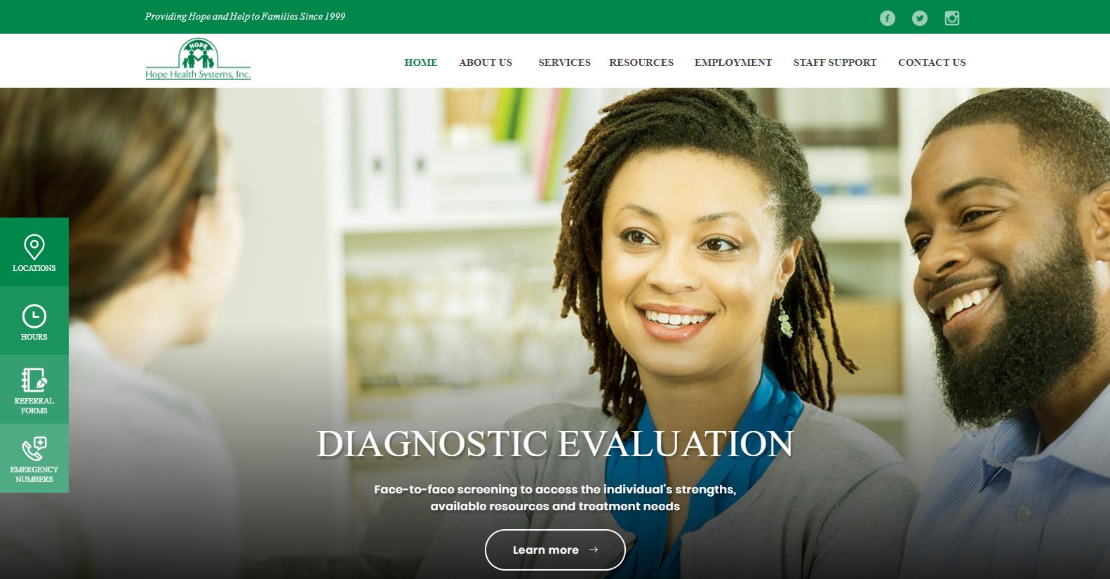 Screenshot of HHS Website