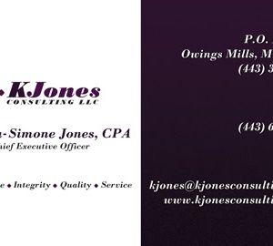 KJones Consulting LLC Business Card